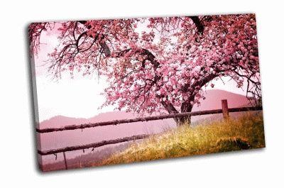 Картина весенние цветы на дереве