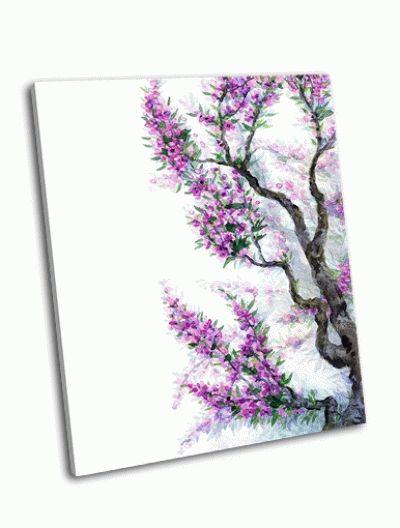 Картина весенние цветы в японском стиле