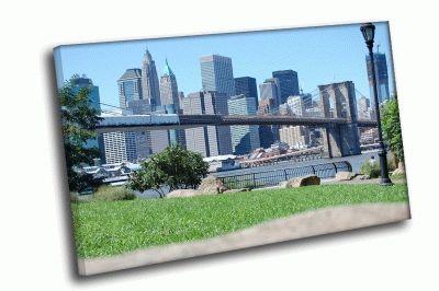 Картина вид на город
