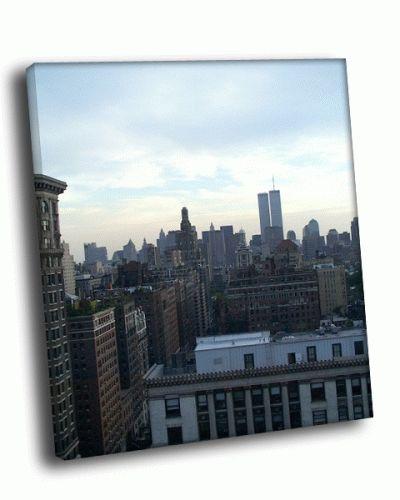 Картина вид на город сверху