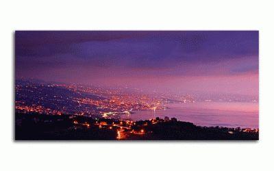Картина вид на горы ночного города