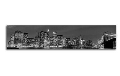 Картина вид на манхэттен в черно-белом