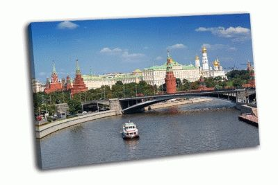 Картина вид на московский кремль