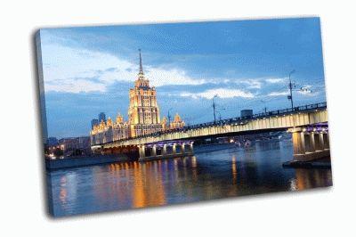Картина вид на московсую гостиницу