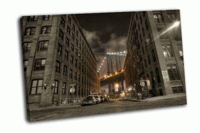 Картина вид на мост с улицы вашингтона