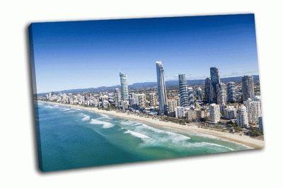 Картина вид  с воздуха на серферс-парадайз