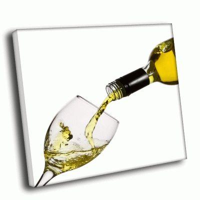 Картина вино и бокал