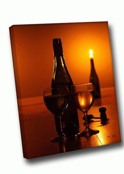 Картина вино и свечи