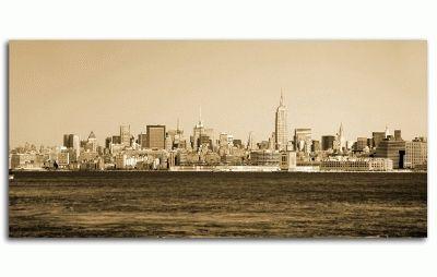 Картина винтаж-городской горизонт нью-йорк