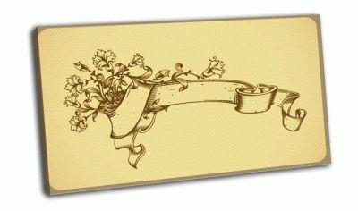 Картина винтаж с цветком