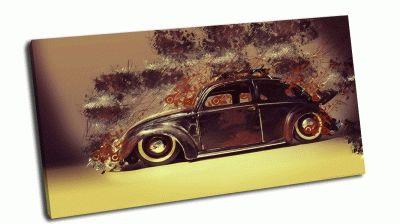 Картина винтажный фольксваген жук