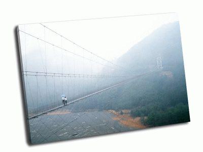 Картина висячий пешеходный мост