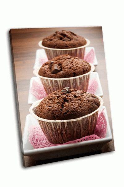 Картина вкусные шоколадные кексы