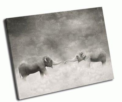 Картина влюбленные слоны