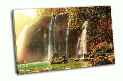 Картина водопад детиан во вьетнаме