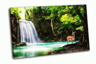 Картина водопад эраван с животным