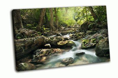 Картина водопад эраван, таиланд