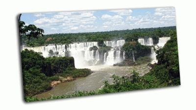 Картина водопад игуасу-наследия юнеско