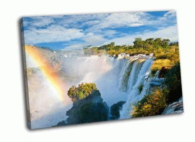 Картина водопад игуасу-вид с аргентинской стороны