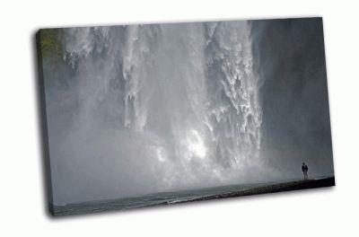Картина водопад скоугафосс