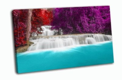 Картина водопад в провинции канчанабури