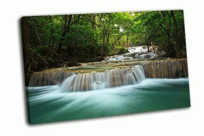 Картина водопад в тайском национальном парке