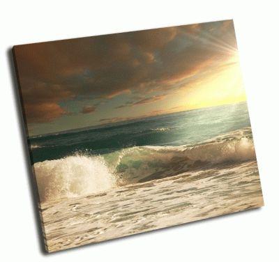 Картина волны на пляже