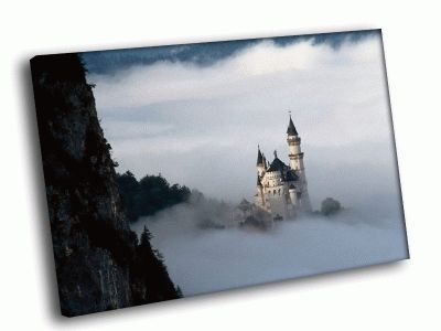 Картина волшебный замок в горах