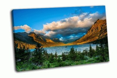 Картина восход над озером святой марии