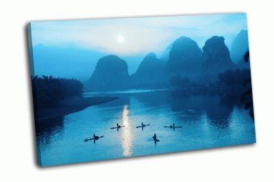 Картина восход в яншо, китай
