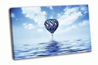 Картина воздушный шар над водой
