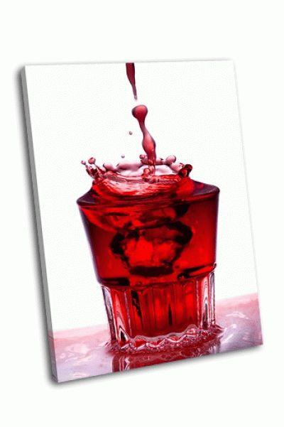 Картина всплеск воды в стакане