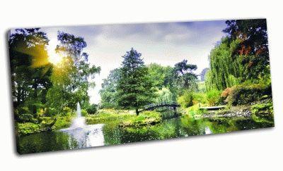 Картина японский мост в ботаническом саду