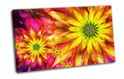 Картина яркие цветы