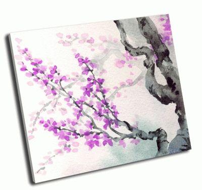 Картина яркие фиолетовые цветы