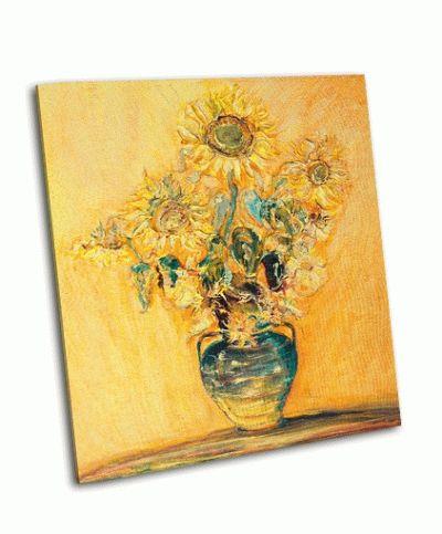 Картина яркий красочный букет подсолнухов