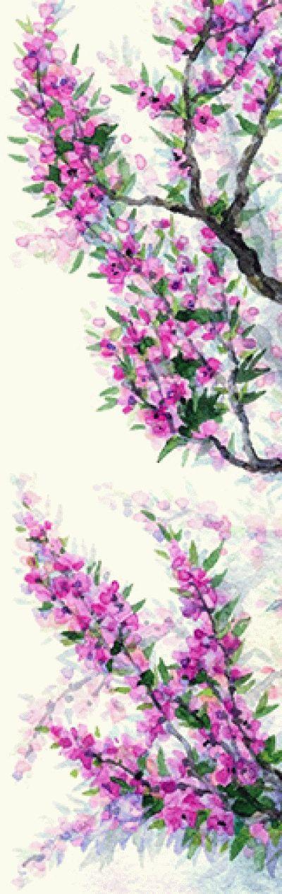Картина ярко-фиолетовые цветки