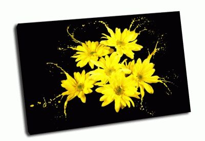 Картина ярко-желтые цветы