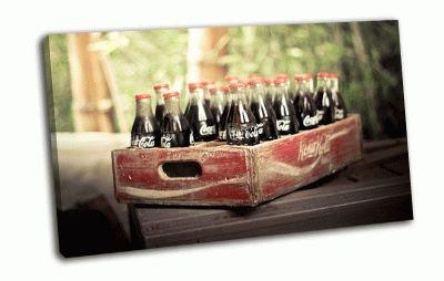 Картина ящик coca-cola