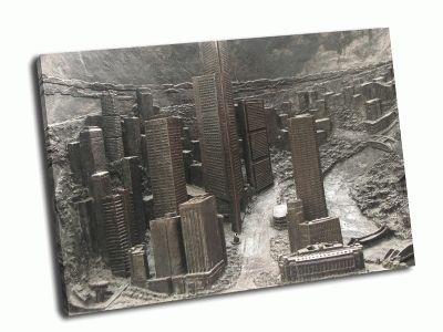 Картина заброшенный город из железа