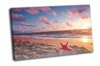 Картина закат на берегу балтийского моря