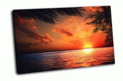 Картина закат на океане