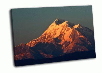 Картина закат над горой тришул