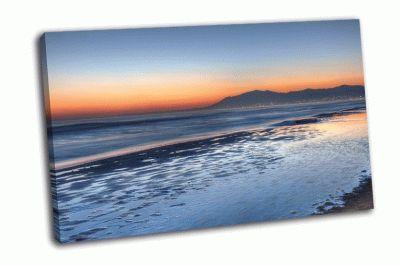Картина закат над коста-дель-соль
