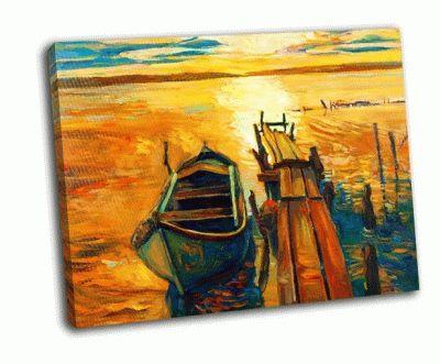 Картина закат над океаном