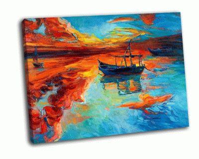 Картина закат над ввц