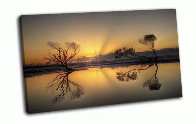 Картина закат, небо