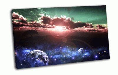 Картина закат солнца