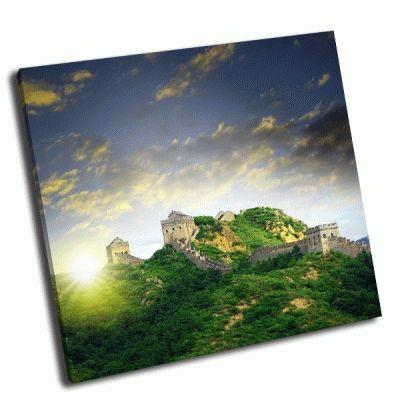 Картина закат в горах китая
