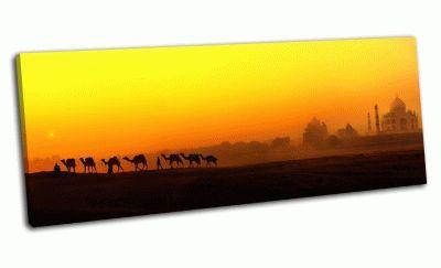 Картина закат в индии